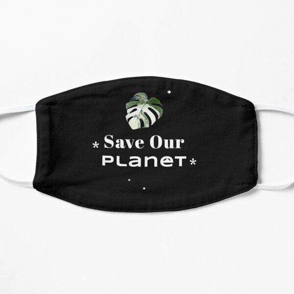 Rette unseren Planeten Nachhaltige Gewohnheiten Go Eco Flache Maske