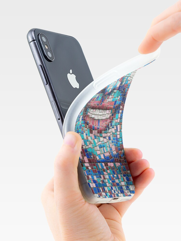 """Alternate view of """"Broken"""" (mosaic tile, painted) - """"Smile"""" Fine Art series iPhone Case & Cover"""