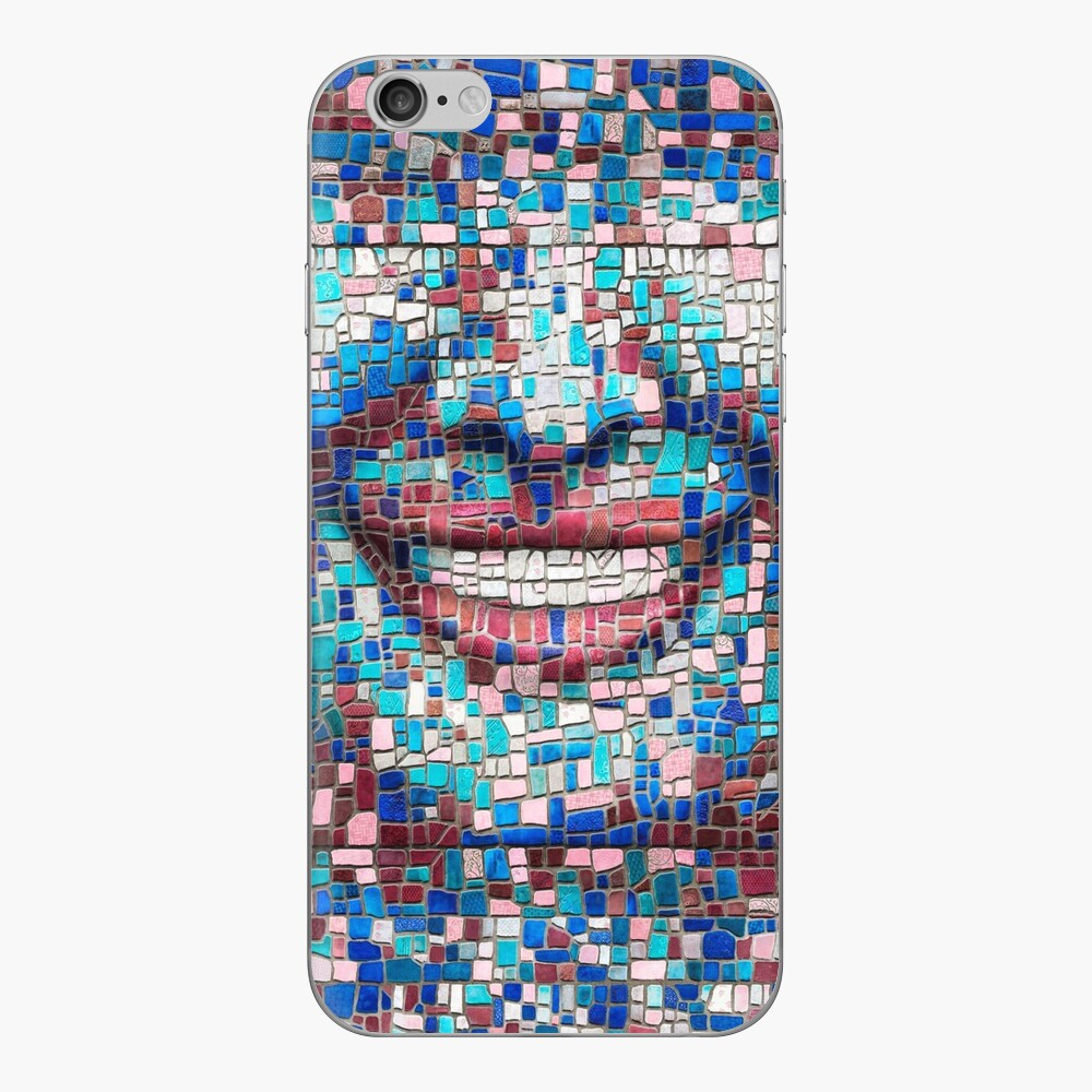 """Broken"" (mosaic tile, painted) - ""Smile"" Fine Art series iPhone Skin"