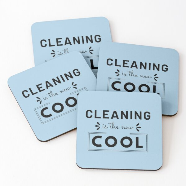 Cleaning is the New Cool, House Cleaning Humor Coasters (Set of 4)