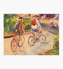 Cycling family Photographic Print
