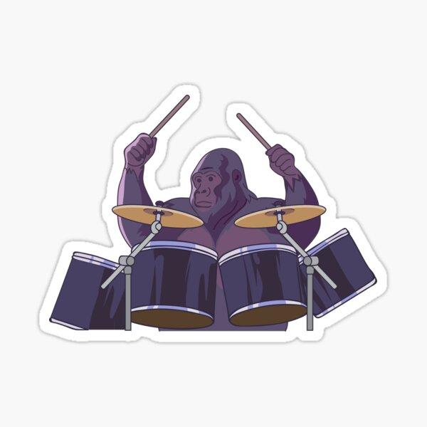 Cadbury's Gorilla Phil Collins In the air tonight Sticker