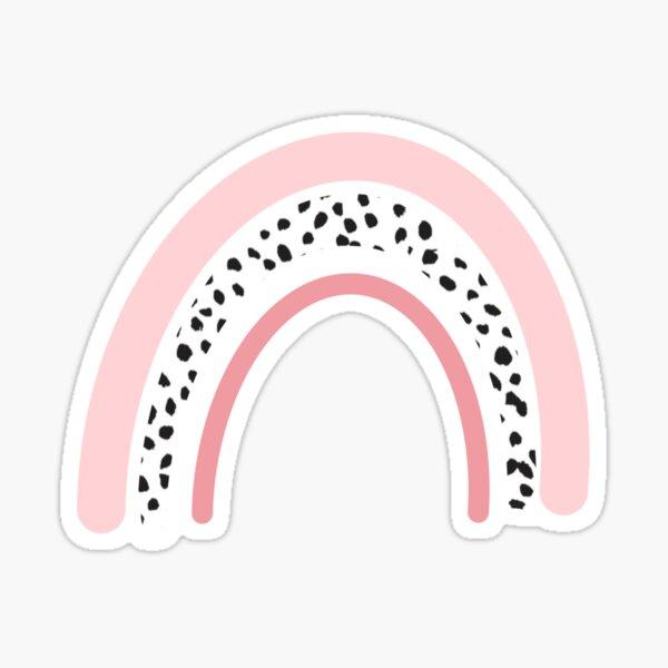 Trendy Aesthetic Pink Dalmatian Rainbow Sticker