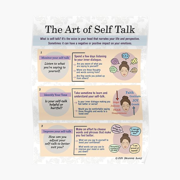 Self Talk - Coping Skills Poster - Self Care Poster Poster