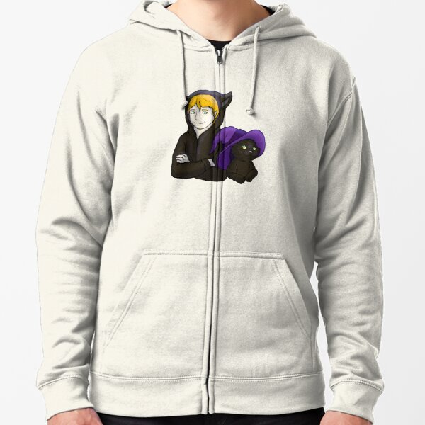 Witch and Their Cat Halloween Cosplay Zipped Hoodie