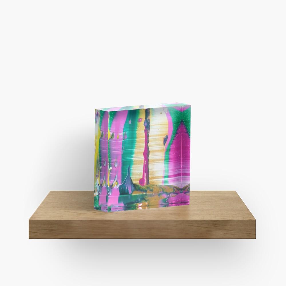 "Abstract Painting-""Fruit Stripe""-Abstract Art-Pop Art Acrylic Block"