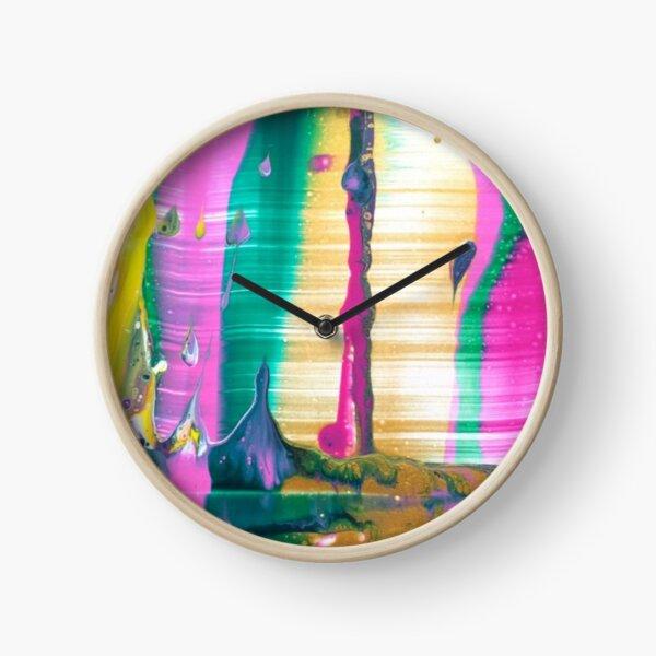 "Abstract Painting-""Fruit Stripe""-Abstract Art-Pop Art Clock"