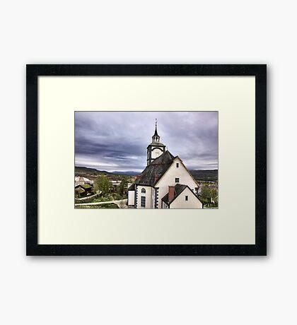 Church in the sky Framed Print