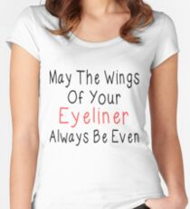 Eyeliner Women's Fitted Scoop T-Shirt