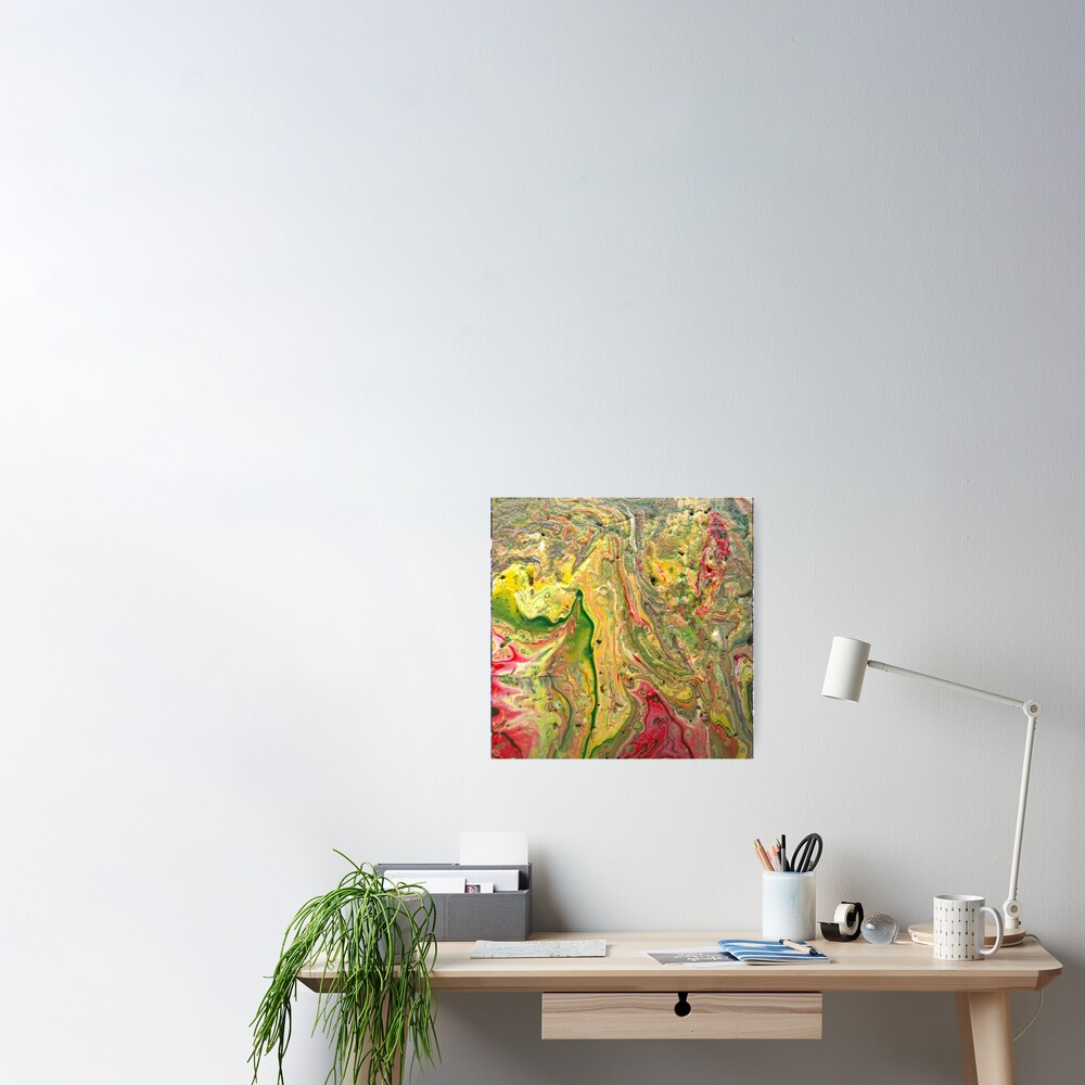 """Abstract Painting-""""Craters and Crevices""""-Abstract Art Poster"""