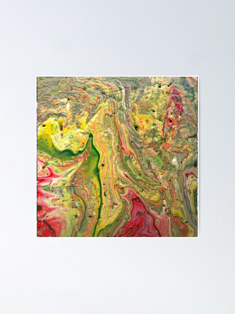 """Alternate view of Abstract Painting-""""Craters and Crevices""""-Abstract Art Poster"""