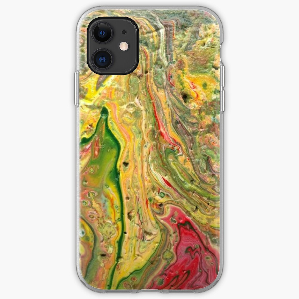 """Abstract Painting-""""Craters and Crevices""""-Abstract Art iPhone Case & Cover"""