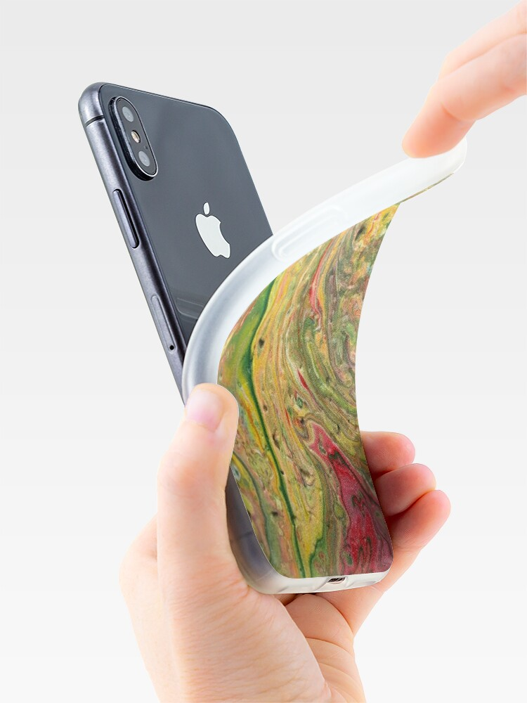 """Alternate view of Abstract Painting-""""Craters and Crevices""""-Abstract Art iPhone Case & Cover"""