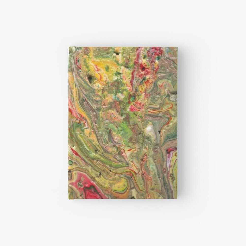 """Abstract Painting-""""Craters and Crevices""""-Abstract Art Hardcover Journal"""