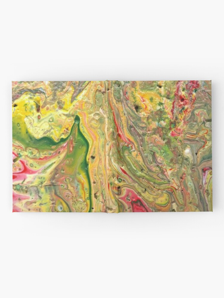 """Alternate view of Abstract Painting-""""Craters and Crevices""""-Abstract Art Hardcover Journal"""