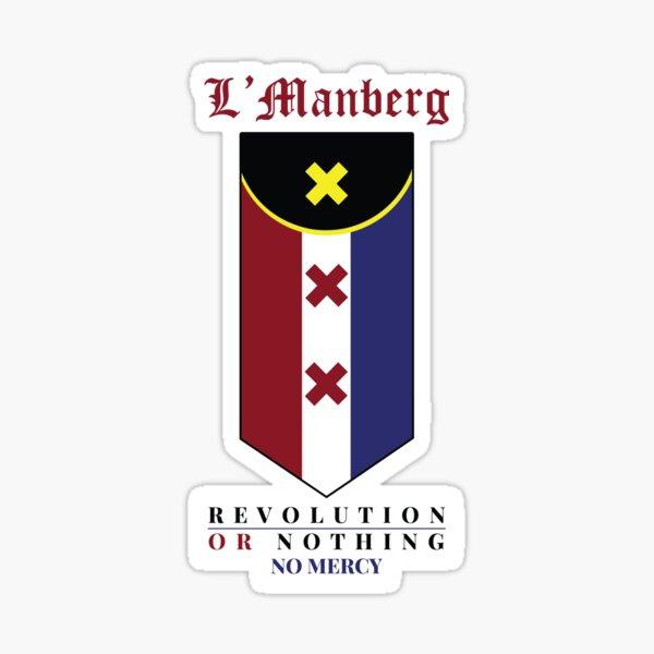 lmanberg Flag - Revolution or Nothing (no mercy) Sticker