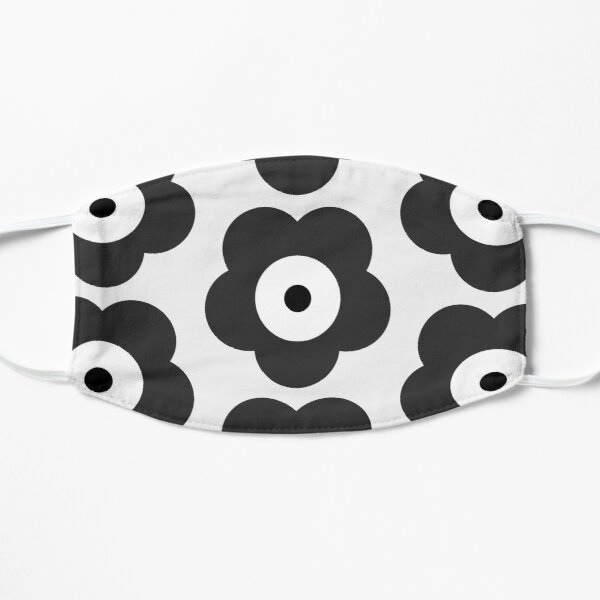 Odd Cross Black and White Sunflower Goes On Bubble Merch Flat Mask