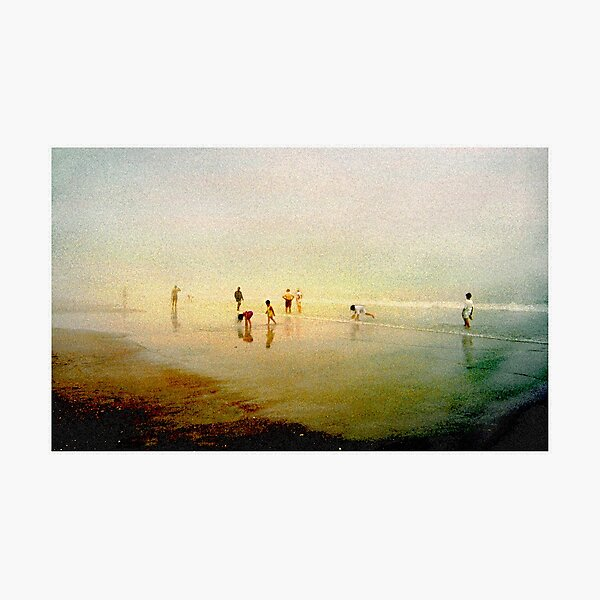 Ten People Enjoying The Beach Photographic Print