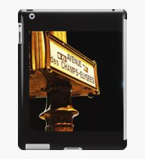 Avenue Champs Elysees iPad Case/Skin