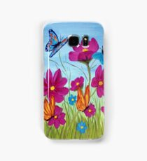 Butterflies and flowers  Samsung Galaxy Case/Skin