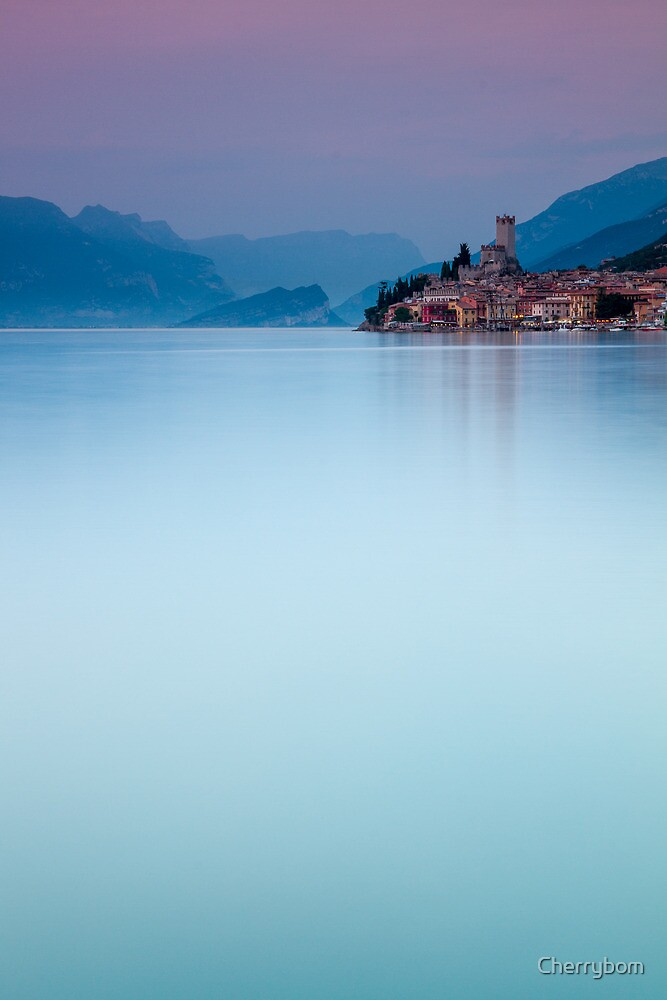 Night Falls #1, Malcesine Italy by Cherrybom
