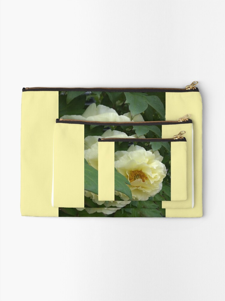Alternate view of Treed Yellow Peony Zipper Pouch
