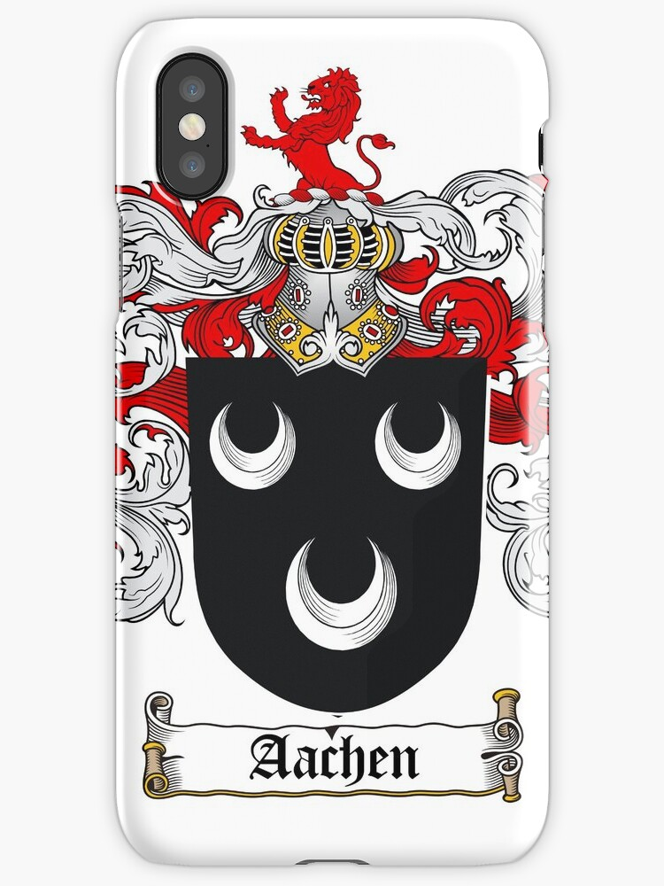 Aachen coat of arms / family crest Iphone cover by coatofarms