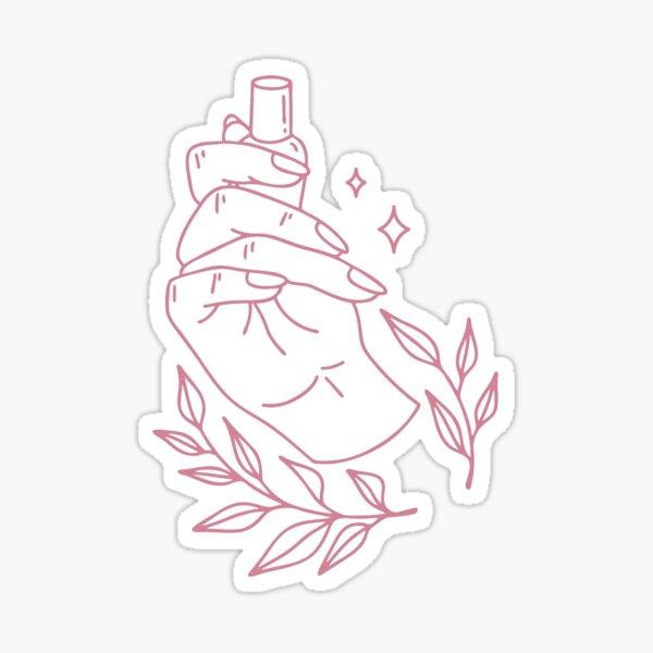 Minimal manicure Sticker