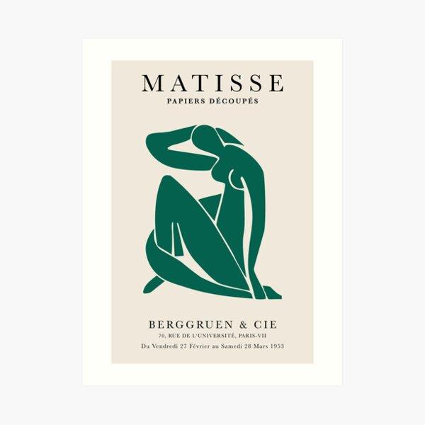 Henri Matisse, Papiers Découpés Art Bottle Green Color, Matisse cutout Bottle Green print, Art Exhibition Print Art Print