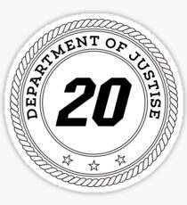 Department of Justise  Sticker