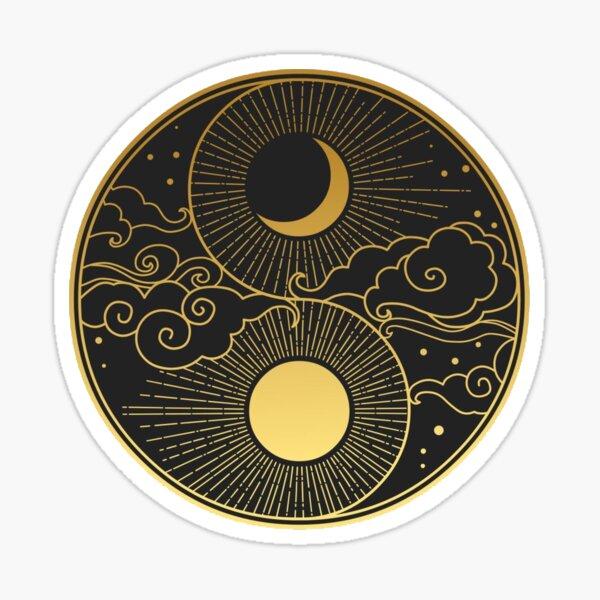 Sun And Moon, Yin And Yang Sticker