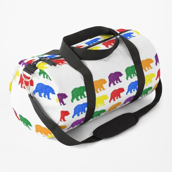 Rainbow bears for gay pride Duffle Bag