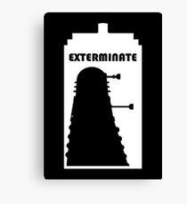 Dalek within Tardis (white) Canvas Print