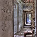 Corridor with chair by hanspeters