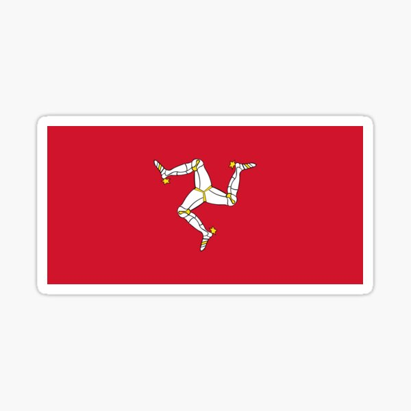 Flag of the Isle of Man Sticker