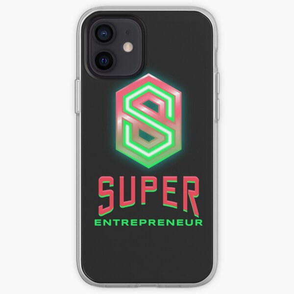 Entrepreneur lime green and hot pink iPhone Soft Case