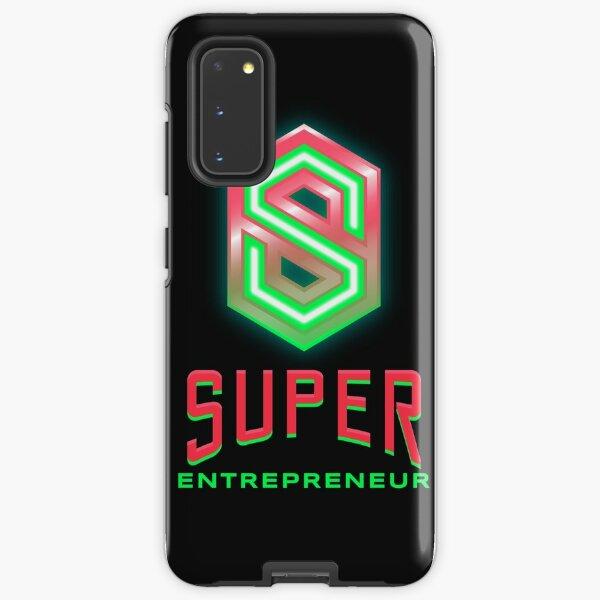 Entrepreneur lime green and hot pink Samsung Galaxy Tough Case
