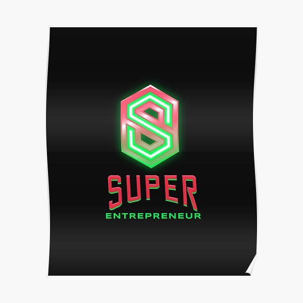 Entrepreneur lime green and hot pink Poster