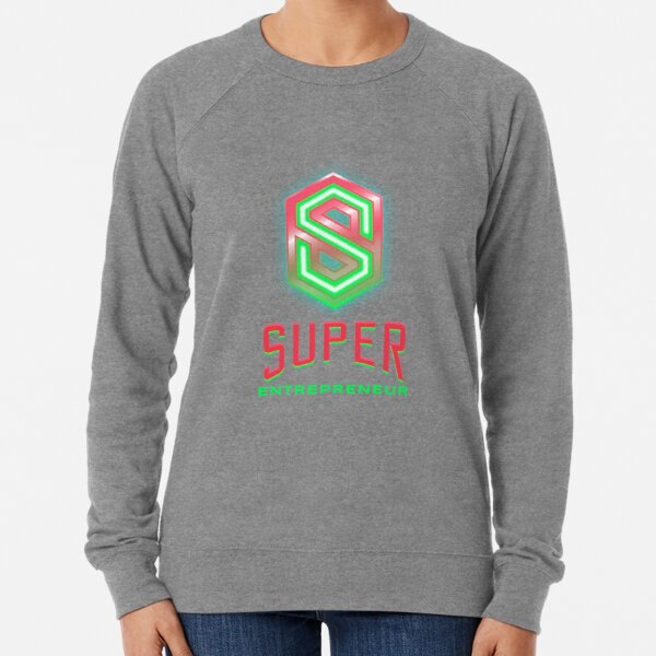 Entrepreneur lime green and hot pink Lightweight Sweatshirt