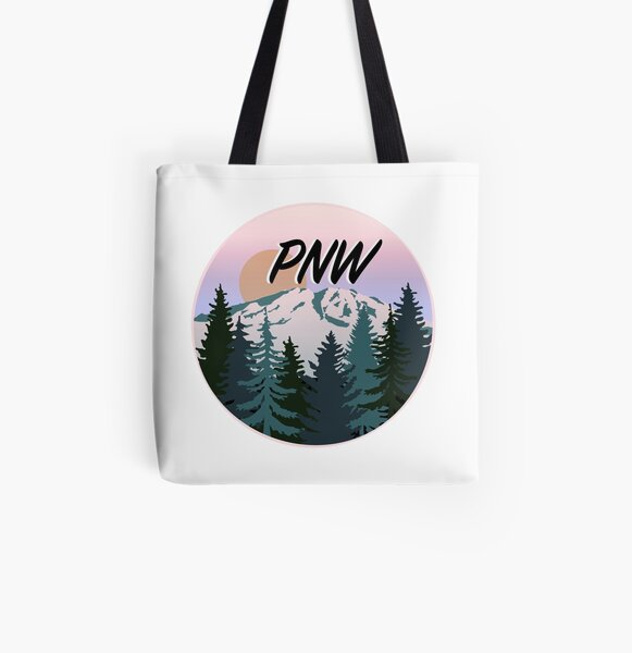 PNW All Over Print Tote Bag
