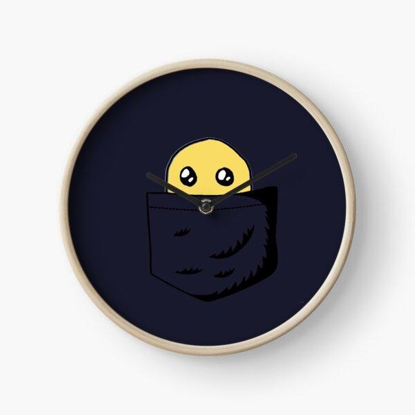 A blob in the navy blue pocket Clock