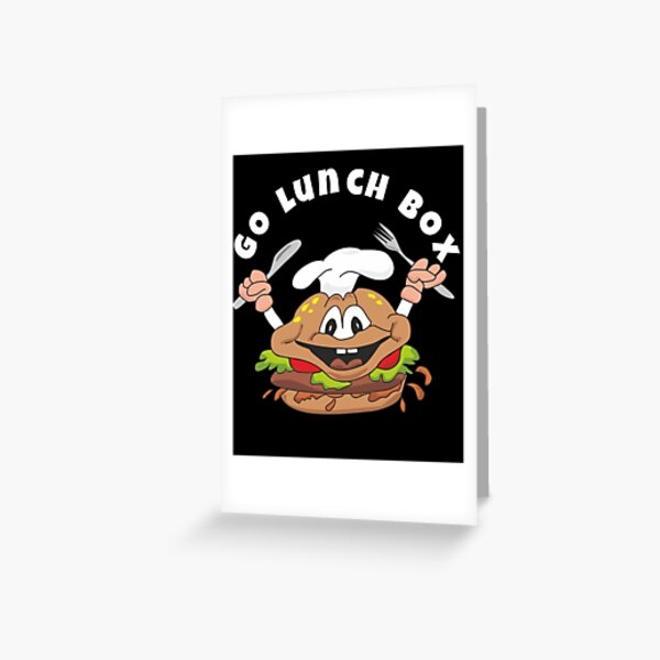 box lunch Greeting Card