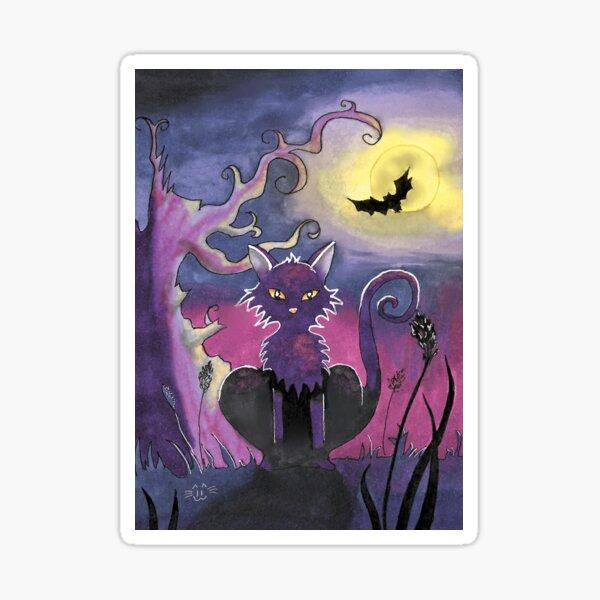 Halloween cat Sticker