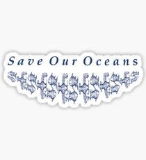 Save Our Oceans with Fish Motiff Sticker