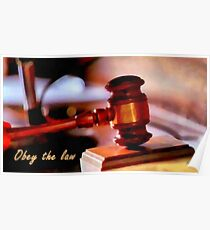 Obey the law Poster