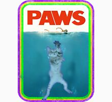 Jaws (PAWS) Movie parody T Shirt Womens Fitted T-Shirt