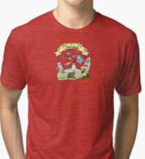 cool city with animals Tri-blend T-Shirt
