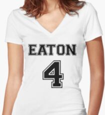 Eaton - T Women's Fitted V-Neck T-Shirt