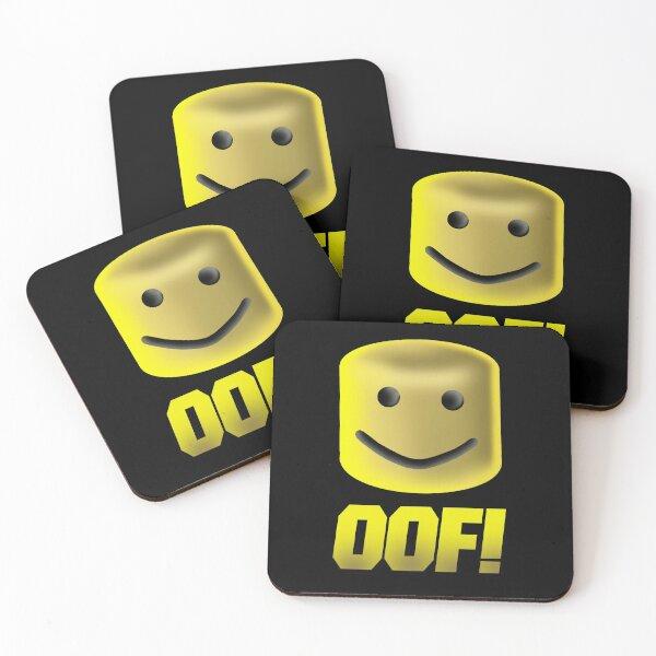 Roblox Oof Noob Head, Noob Coasters (Set of 4)