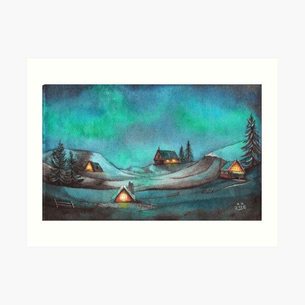 Jol in Norway Art Print